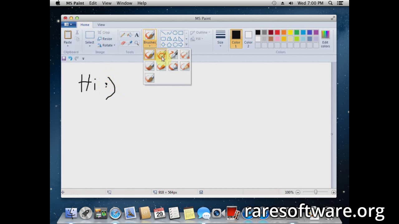 microsoft paint for mac os rare software