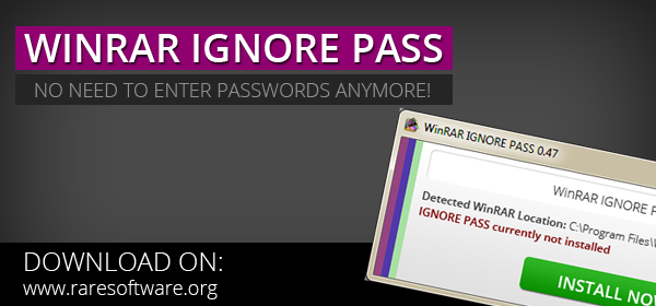 Remove winrar password