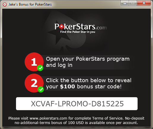 star codes pokerstars