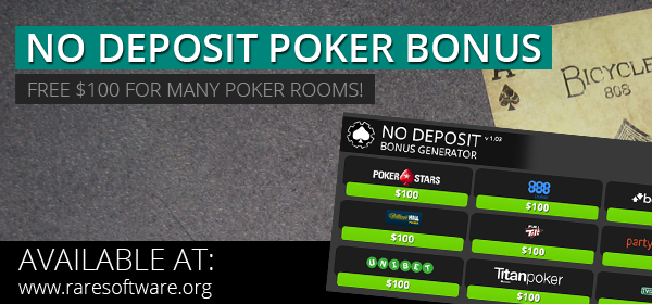 no deposit bonus poker rooms