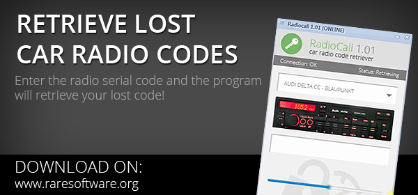 Retrieve lost radio codes
