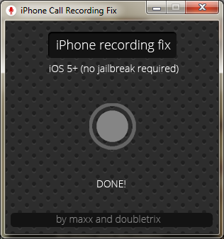 recorded call